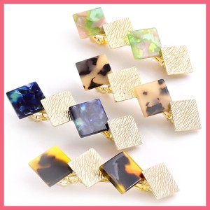 Marble Metal Square Barrette