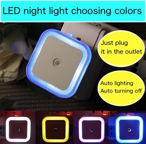 Square Design Light Sensor Light Night Light Automatic Lighting Up Automatic