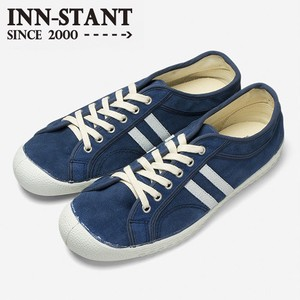 INN-STANT SUEDE SHOES #308 BLUE/NATURAL(WHITE SOLE)