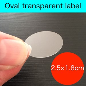 Transparency Oval Adhesion Sticker SEAL Label