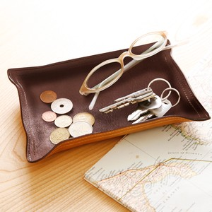 Leather Tray Genuine Leather Deformation Accessory Case Tray