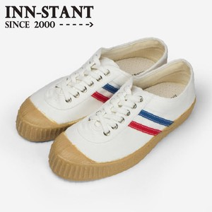 INN-STANT CANVAS SHOES-NEO #803 WHITE/RED-BLUE(GUM SOLE)
