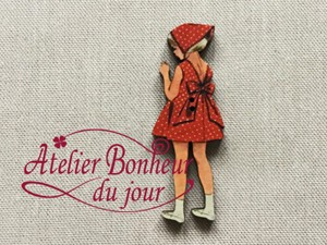 France Wooden Button Atelier Behind Girl