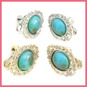 Fake Turquoise Button Earring