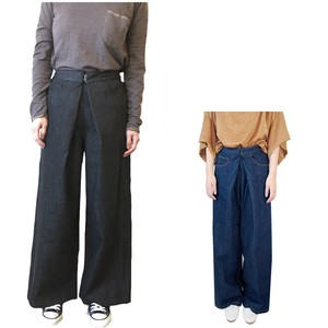 wide pants Black Denim Hook