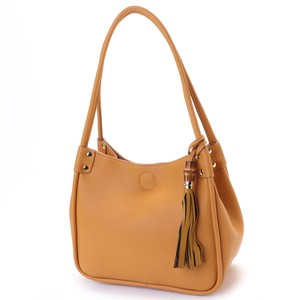 Handle Bamboo Tassel Tote Bag