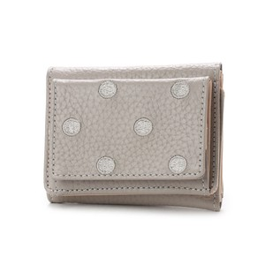 Cow Leather Dot Embroidery Three Box Wallet