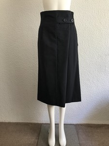 High-waisted Tuck Button Skirt