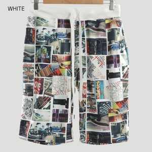 2018 S/S ponte fabric Repeating Pattern Photo Print Shorts