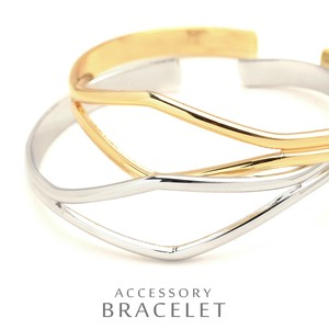 Line Metal Bangle Otona Style Accent Double Bracelet Silhouette Cenesthesia