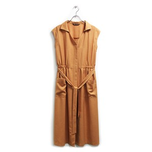 Twill Long One-piece Dress