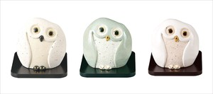 White Green Pearl White Interior Gift Owl
