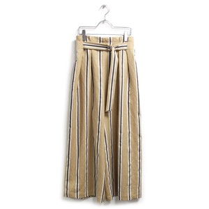 Stripe Belt wide pants