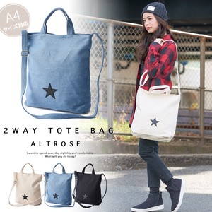 Star Patch Canvas Tote Star