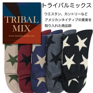 【2018秋冬新作】Tribal mix crew socks