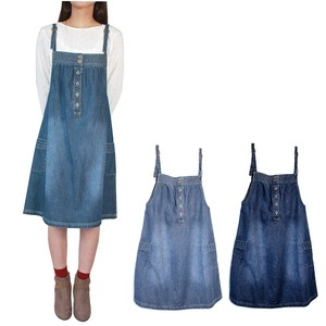 Zip‐up Jacket Dress Pet Skirt Denim Girly Natural