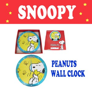 Snoopy Wall Clock Wall Clock Wooden SNOOPY Interior American Miscellaneous goods