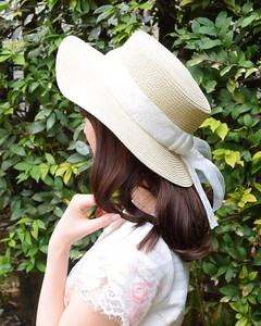 Lace ribbon boater hat