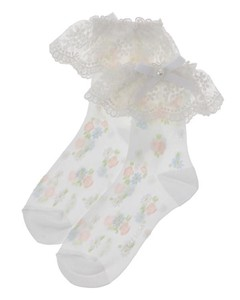 Tulle flower socks
