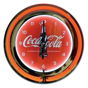 NEON CLOCK DOUBLE【COCA COLA BOTTLE】/ コカコーラ ネオン 時計