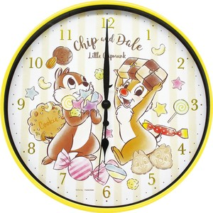 Disney Index Wall Clock Chip 'n Dale Sweets