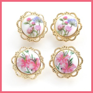 Retro Flower Button Earring