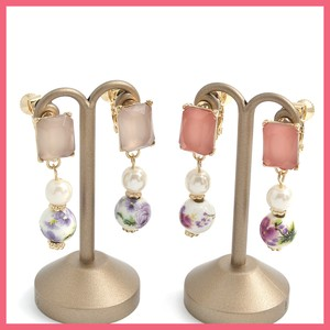 Square Bijou Retro Flower Beads Earring