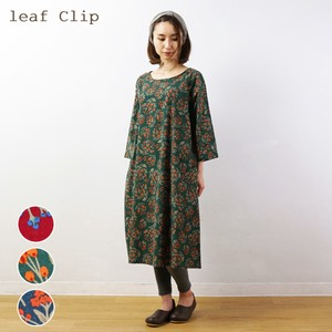 2018 A/W Flower Print One-piece Dress Cotton Natural Leisurely Floral Pattern
