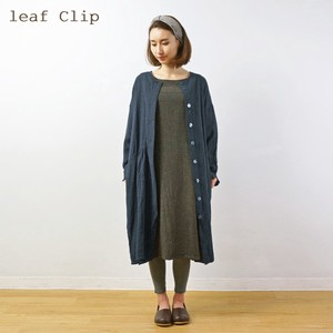 2018 A/W Non-colored Gather Coat One-piece Dress Cotton Natural Leisurely