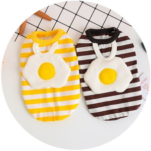 Border Shirt Fried Egg Attached Dog Exclusive Use Pet Product