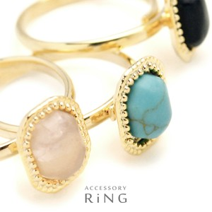 Oval Jewel Stone Ring Ring