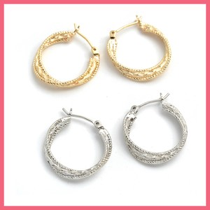 Nickel Free Post Triple Hoop Pierced Earring