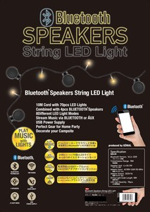 BLUETOOTH SPEAKERS STRING LED LIGHT(LEDライト付きBLUETOOTH内蔵スピーカー)