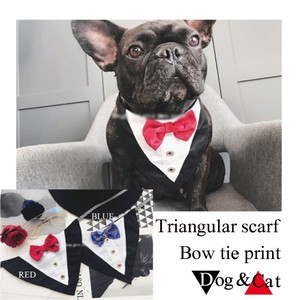 Pet Product Triangle Scarf Bow Tie for Cat