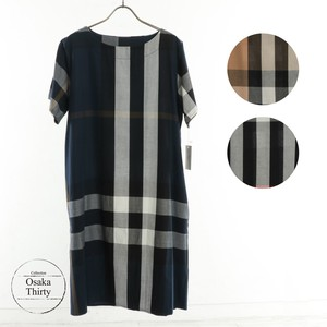 Checkered Line Material One-piece Dress