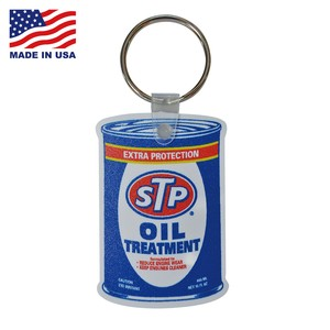 STP RUBBER KEYCHAIN【OIL CAN】/ MADE IN USA キーホルダー