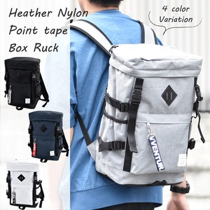 2018 A/W AVVENTURA Heather Nylon Point Tape Box Backpack