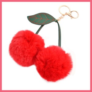 2018 A/W Fur Bonbon Cherries Key Ring