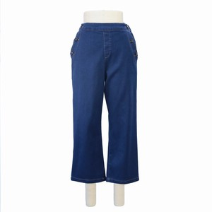 2018 Autumn Button Denim wide pants