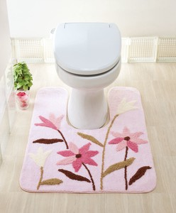 Toilet Mat Pink Green