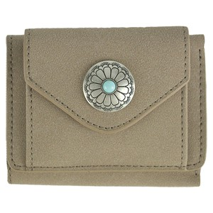 Button Trifold Wallet