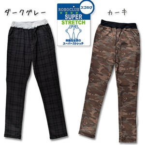 2018 A/W for School Rayon Stretch Repeating Pattern Skinny Pants