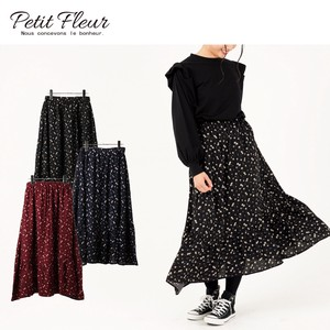 2018 A/W Floret Pattern Gather Switch Skirt Color Rule
