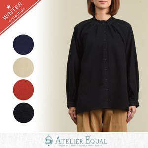 Plain Gigging Frill Blouse