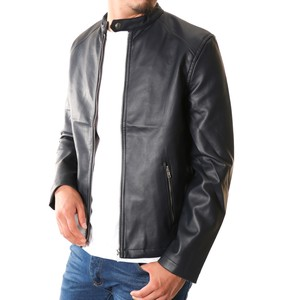 2018 A/W Fake Leather Single Motorcycle Leather Jacket