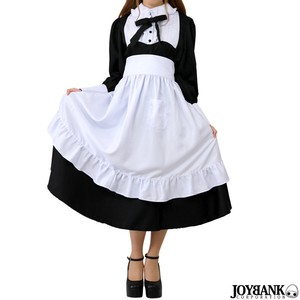 Maid Mono Tone Color House Maid Long Type Cosplay Maid