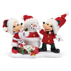 【Department56】 Mickey&Minnie Snow <クリスマス>