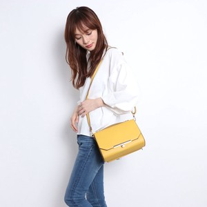 2018 A/W Wallet Attached Linen Metal Fittings Shoulder Bag