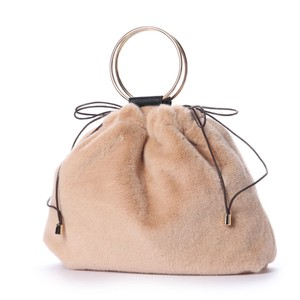 2018 A/W Fur Ring Handle Pouch Bag