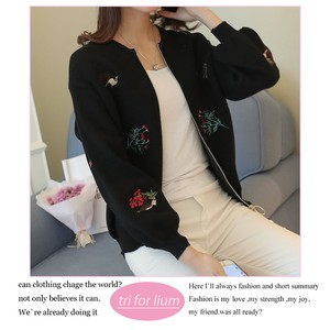 2018 A/W Embroidery Design Knitted Jacket